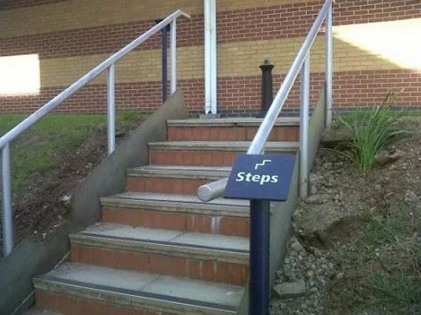 Pointless Steps Sign