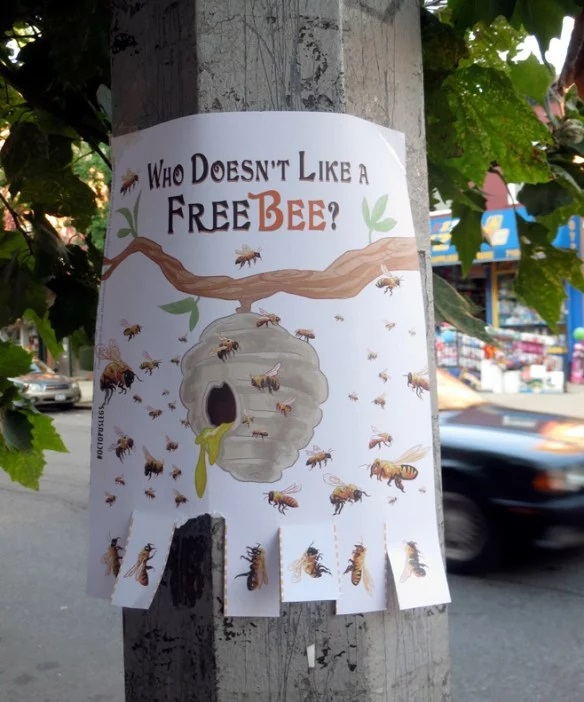 """""""Free Bee"""" Tear Off Posters"""