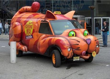 Cat themed vehicle