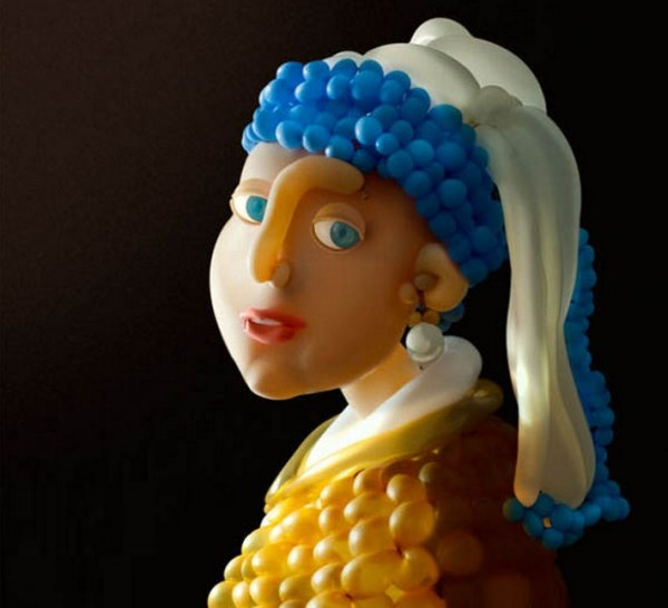 Top 10 Works Of Art Recreated With Balloons
