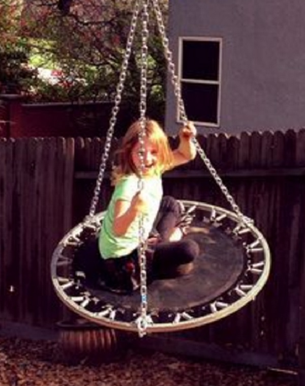 Trampoline Turned Into a Swing