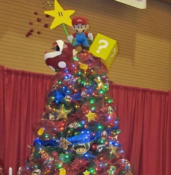 Super Mario Themed Christmas Tree
