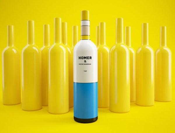 Homer Simpson Wine Bottle
