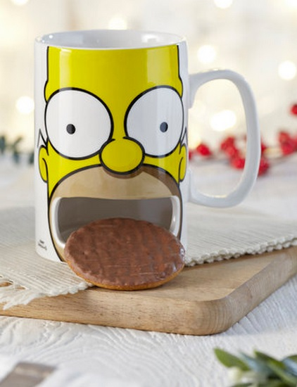 Homer Simpson Mug With Biscuit Shelf