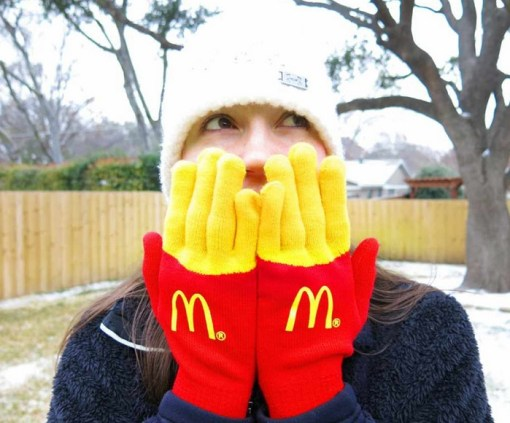 French Fry Gloves