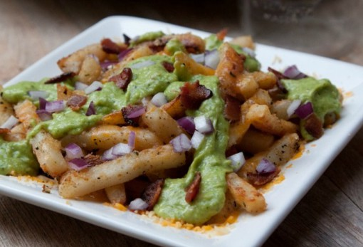 Cheesy Avocado & Bacon Poutine