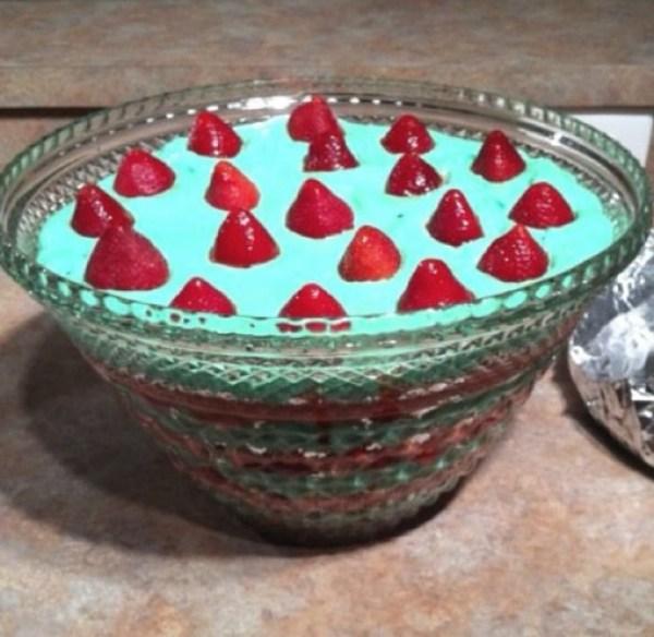 Christmas Punch Bowl Cake
