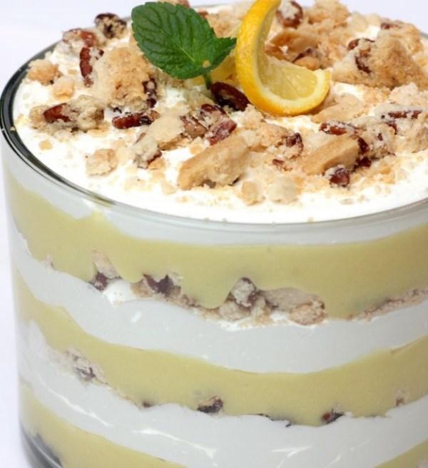 Lemon Bar Punch Bowl Cake