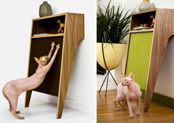 Cat Scratching Board Table