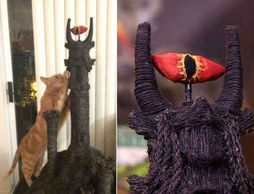Cat Scratching Eye Of Sauron