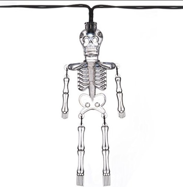 Acrylic Skeleton Halloween String Lights