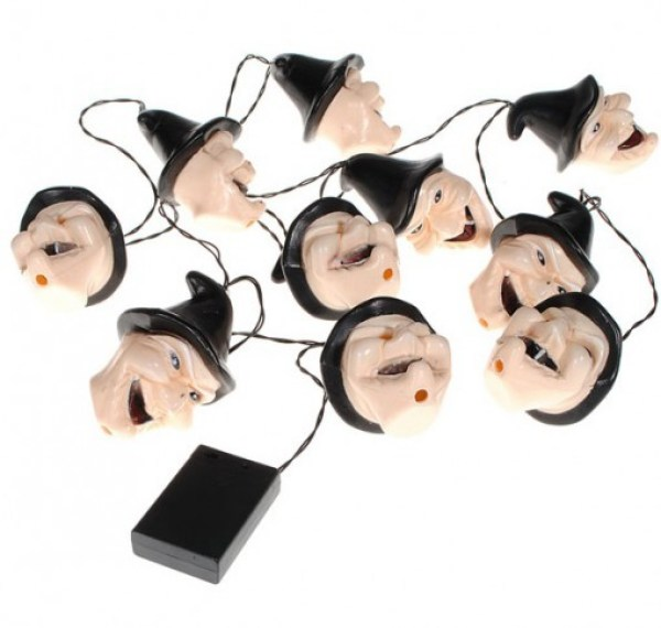 Witch Halloween String Lights