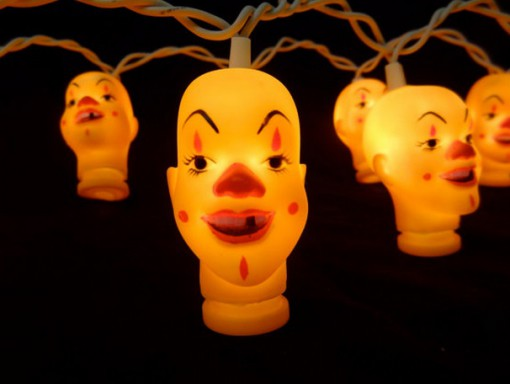 Evil Clown Halloween String Lights