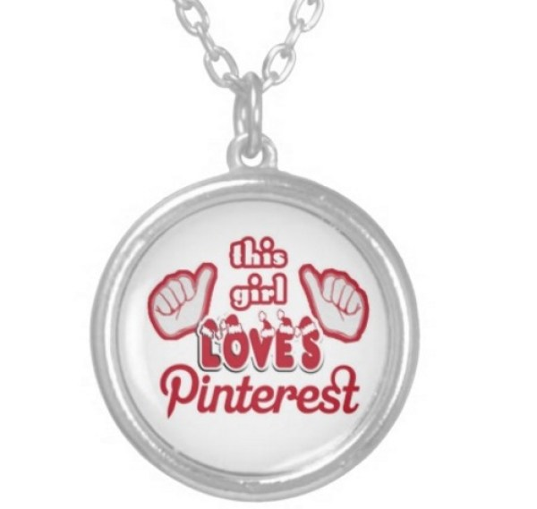 Pinterest Pendant Necklace