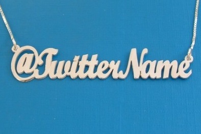 Twitter Handle Necklace