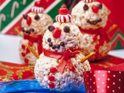 Crispy Snowmen Treats