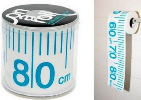 Tape Measure Toilet Paper / Loo Roll