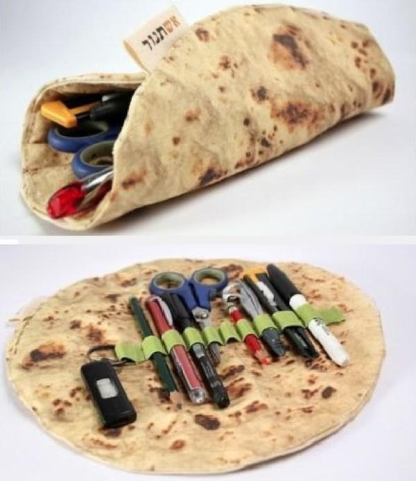 Pita Bread Novelty Pencil Case