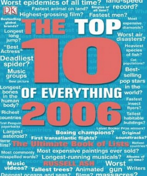Top 10 of Everything 2006 - By Russell Ash