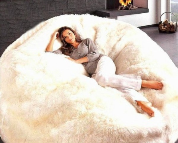 Massive Sheepskin Bean Bag