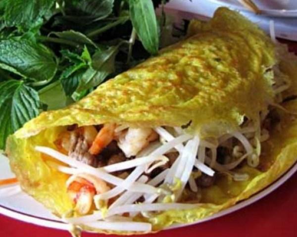 Vietnamese Style Savoury Crepes