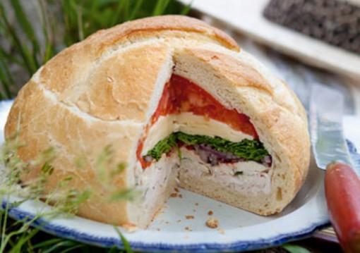 Chicken Sandwich Stuffed Loaf