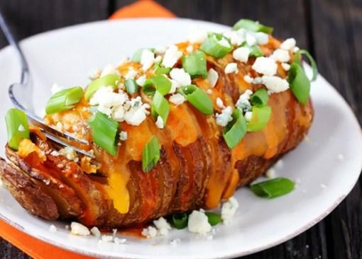 Buffalo Hasselback Potatoes