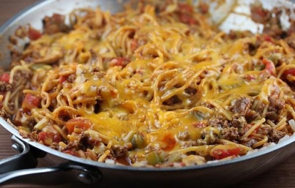One-Pan Skillet Spaghetti