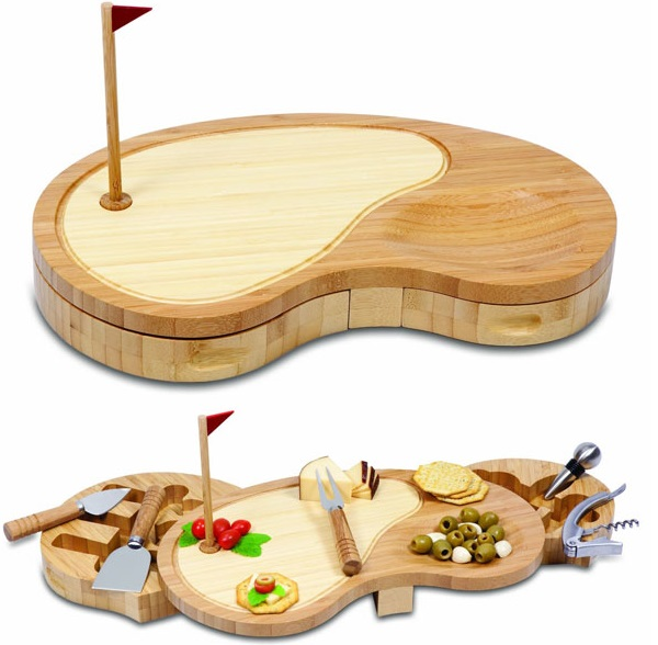 Golf Cheese Board and Tool Set