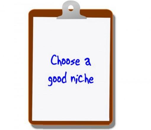 Choose a good niche