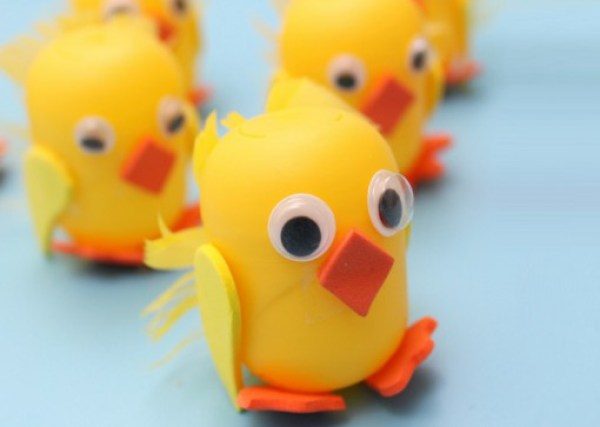 Chicks Made From Kinder Surprise Containers