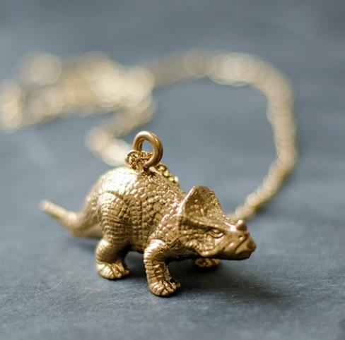 Toy Dinosaur Necklace Pendant