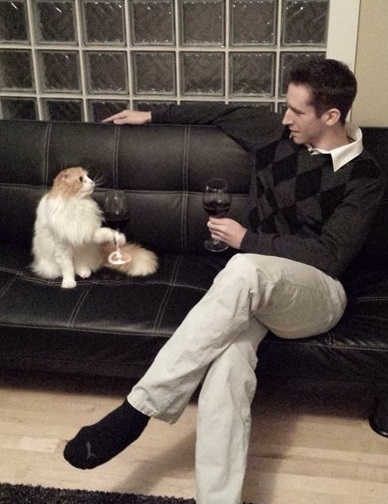 Wine-Loving Cat
