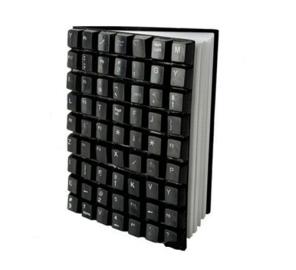 Computer Keyboard Keys Transformed Into A Book Cover