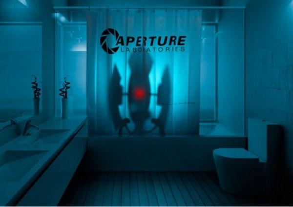 Portal 2 Aperture Laboratories Shower Curtain