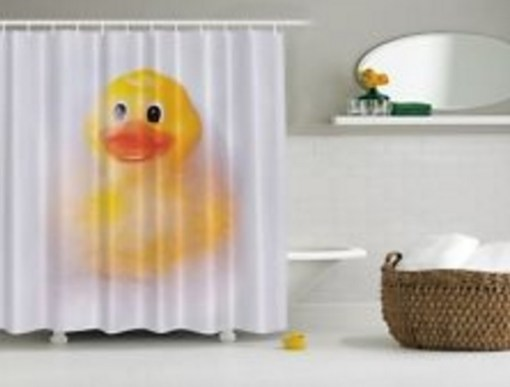 Giant Rubber Duck Shower Curtain