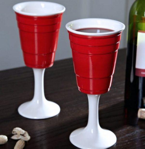 Plastic Cup Wine Glass