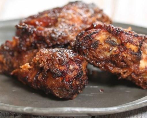 Sticky Orange Fried Chicken