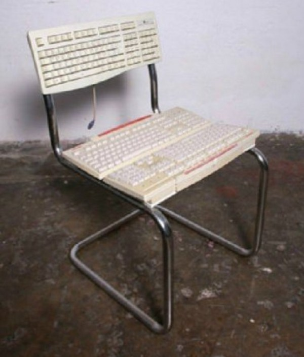 Computer Keyboards Transformed Into a Chair