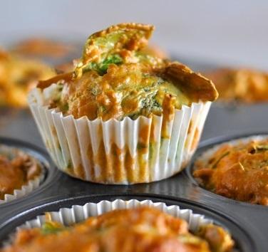 Pumpkin and Spinach Muffins