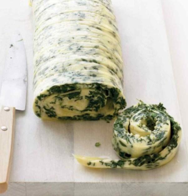 Spinach and Cheddar Datemaki