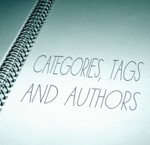 Categories, Tags and Authors