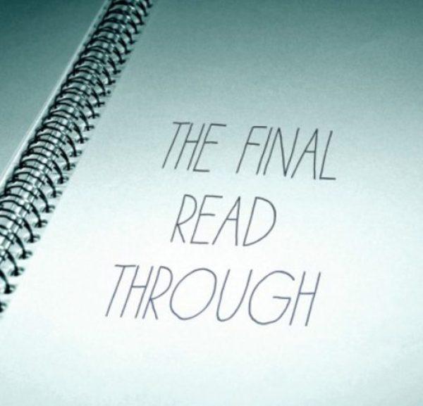 The Final Read Through