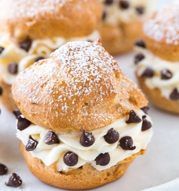 Cannoli Cream Puffs