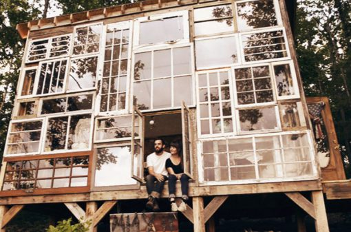 Old Windows Transformed Into a House