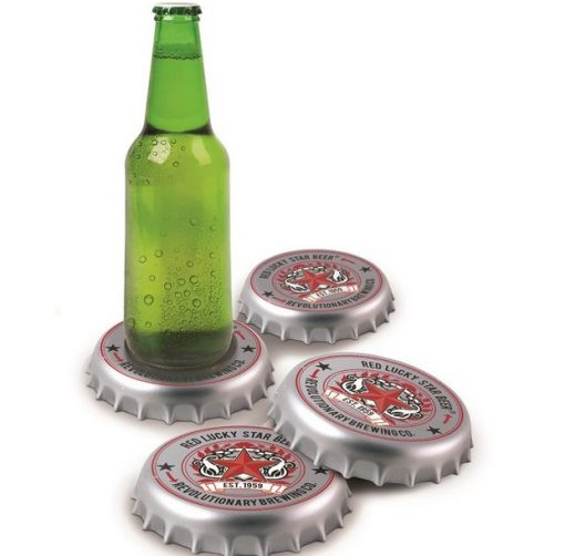 Beer Bottle Cap Drink Coasters