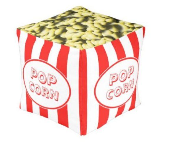 Popcorn Box Themed Pouffe