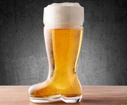 Old Boot Beer and Pint Glass
