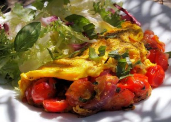 Cheese & Tomato Omelette
