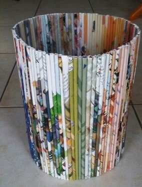 Old Magazines Used To Waste Paper Bin